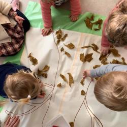 Collage de feuilles d'automne